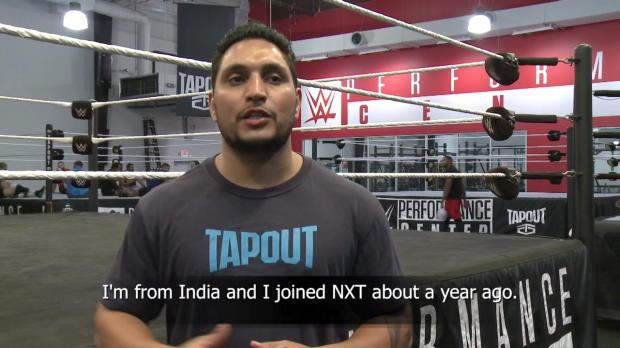 Kishan Raftar addresses the WWE Universe