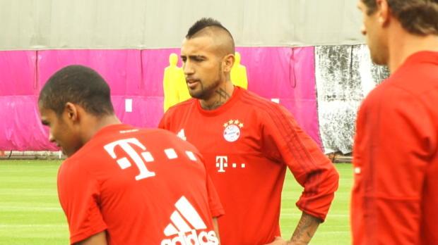 Erstes Training von Vidal beim FC Bayern