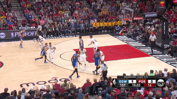 WSC: Golden State Warriors with 17 3-pointers against the Trail Blazers