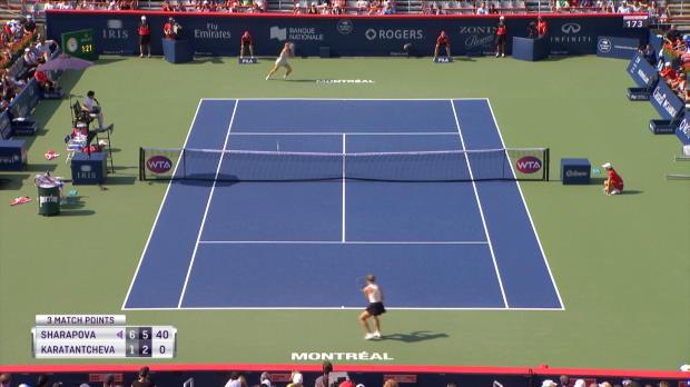: Montréal - Sharapova passe sans forcer (6-1 ; 6-2)