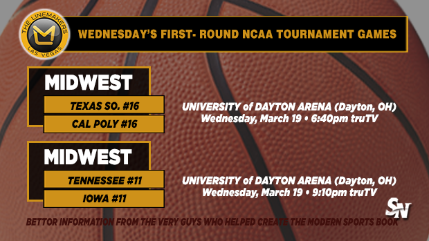 Wednesday's first-round NCAA Tournament games