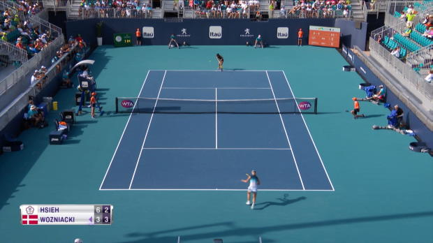 Tennis : Miami - Après Osaka, Hsieh bat Wozniacki (6-3 ; 6-7 ; 6-2)