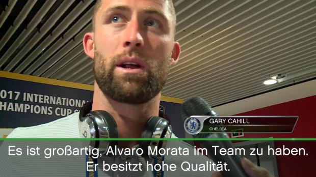 Chelsea-Stars freuen sich über Alvaro Morata