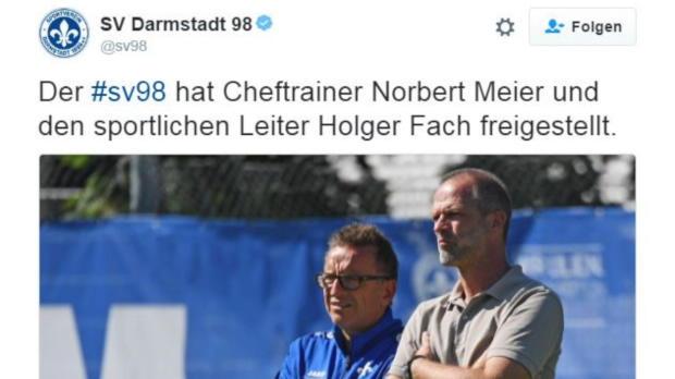 Rundumschlag in Darmstadt: Meier und Fach weg!