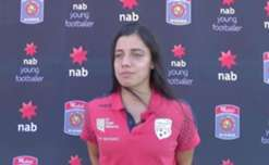 Adelaide United youngster Alex Chidiac says she was surprised to be nominated for the NAB Young Footballer of the Year award.