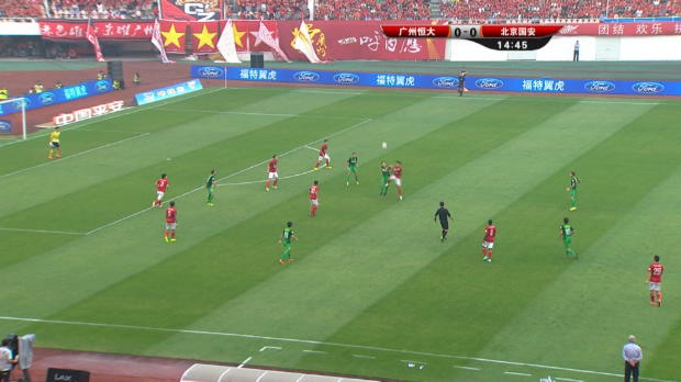 China: Guangzhou Evergrande 0-1 Beijing Guoan