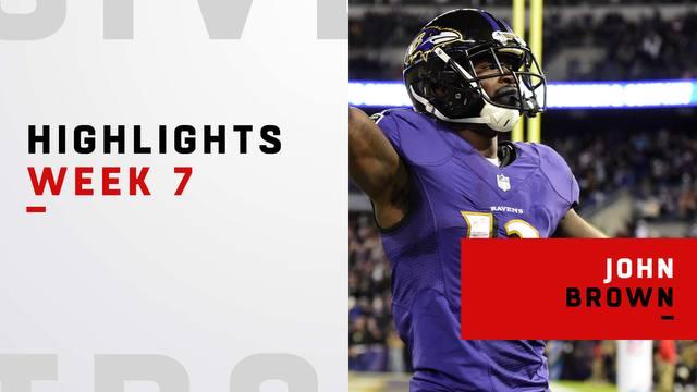 Every John Brown catch vs. Saints | Week 7