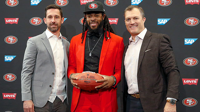 San Francisco 49ers cornerback Richard Sherman's introductory press conference