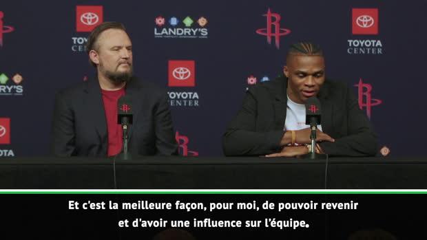 """Basket : Rockets - Westbrook prêt à """"sacrifier"""" certaines facettes de son jeu"""