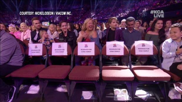 "John Cena brings along his family, ""The Cenas,"" to Nickelodeon's 2018 Kids' Choice Awards"