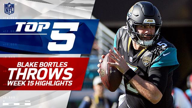 Top 5 Jacksonville Jaguars quarterback Blake Bortles throws | Week 15