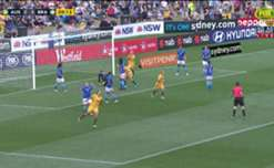 Caitlin Foord was inches from opening the scoring for the Matildas against Brazil with her header flashing just past the post.