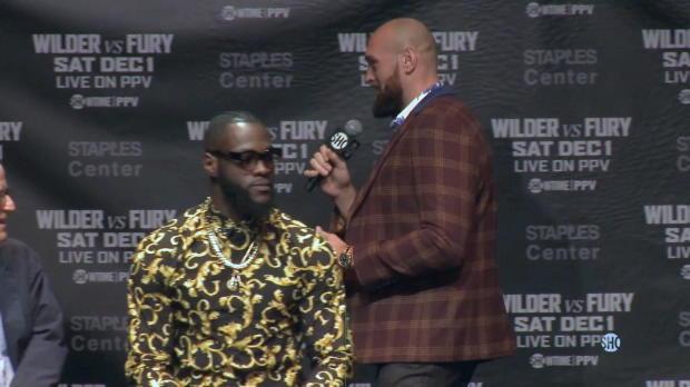 Boxen: Fury und Wilder liefern sich Wortgefecht