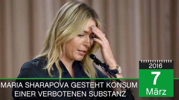 On This Day: Sharapova gesteht Doping