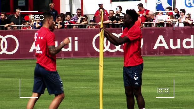 Rocky Hernandez: Box-Spaß im FCB-Training