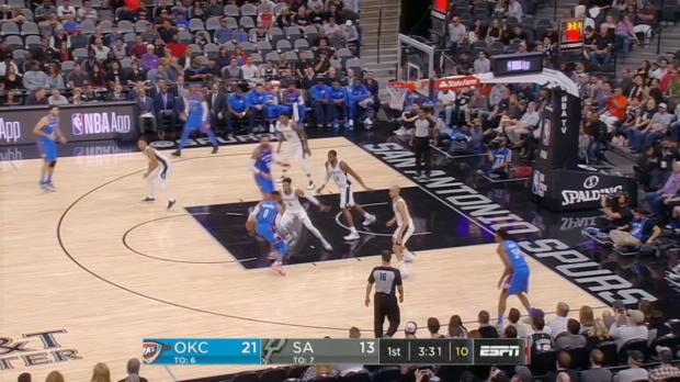 GAME RECAP: Spurs 104, Thunder 101