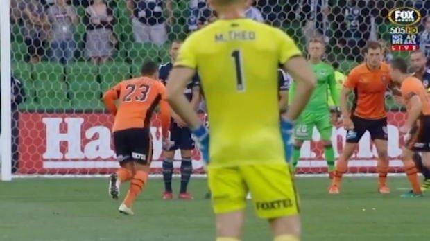 Roar midfielder's incredible free-kick