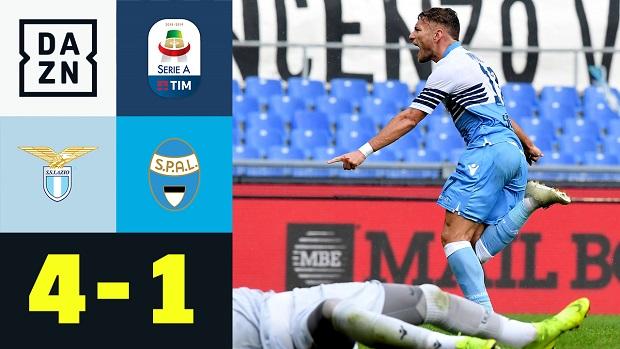 Serie A: Lazio - SPAL   DAZN Highlights