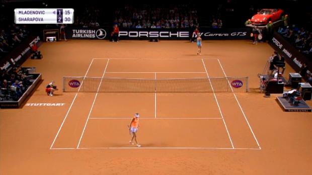 تنس: بطولة شتوتغارت: ملادينوفيتش تهزم شارابوفا 3-6، 7-5 و6-4