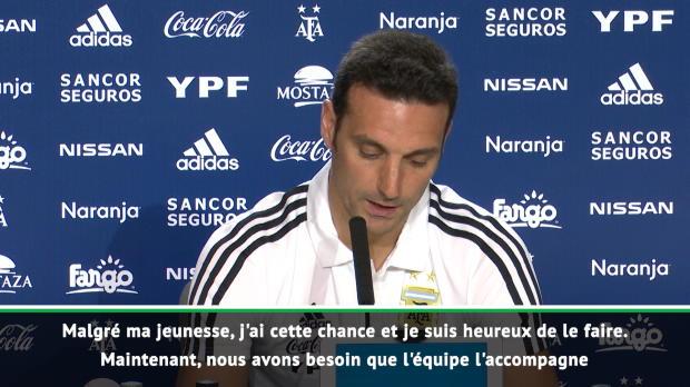 Argentine - Scaloni - 'Très heureux du retour de Messi'