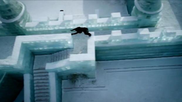 لقطة: رياضات متطرّفة: الركض على الجليد في مدينة الثلج