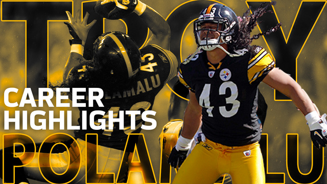 Former Pittsburgh Steelers safety Troy Polamalu career highlights | NFL Legends