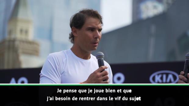 : Open d'Australie - Nadal - 'Je réalise une bonne semaine de préparation'