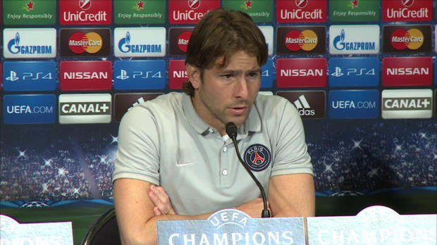 "Foot : LDC - Groupe F : PSG, Maxwell : ""Faire courir le Barça"""