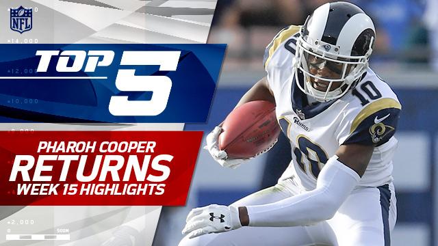 Top 5 Los Angeles Rams wide receiver Pharoh Cooper returns | Week 15