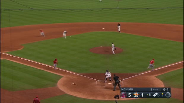 Gonzalez nabs Upton at the plate