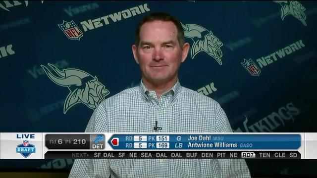 Mike Zimmer on Moritz Boehringer: The draft is about making dreams come true