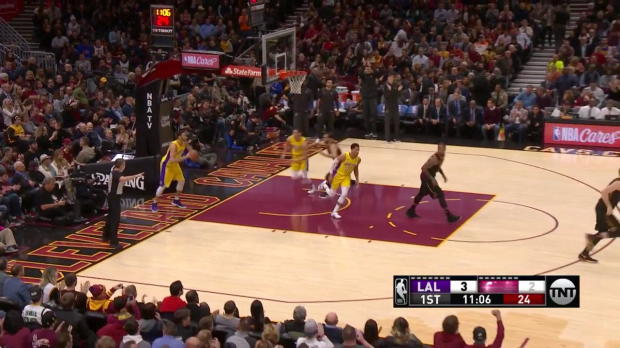 WSC: LeBron James Posts 25 points, 12 assists & 12 rebounds vs. Los Angeles Lakers