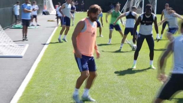 Pirlos erstes Training in New York