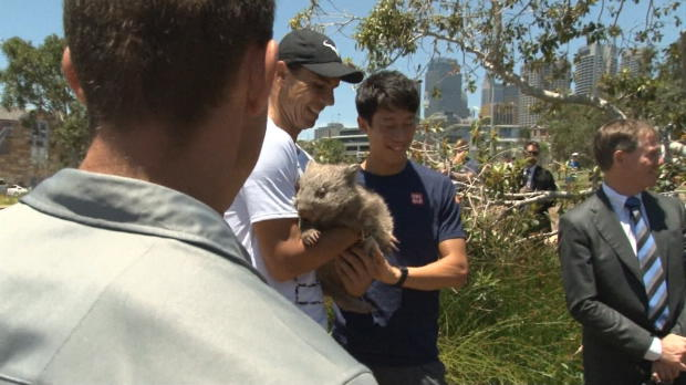 Australian Open: Nadal kuschelt mit Wombat