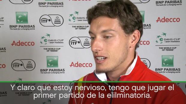 Copa Davis - Pablo Carreño, ilusionado con su debut en el torneo