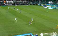 Glory's Josh Risdon settled the contest against WSW with a superb strike from distance.