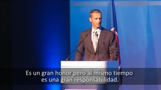 Ceferin, su primer discurso como presidente de la UEFA