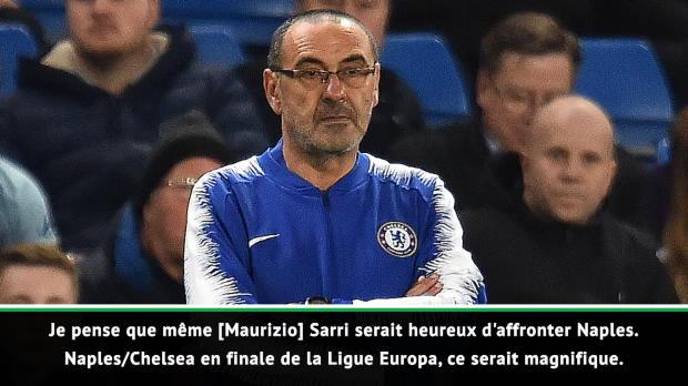 Naples - Ancelotti - 'Jouer la finale de la Ligue Europa contre le Chelsea de Sarri'