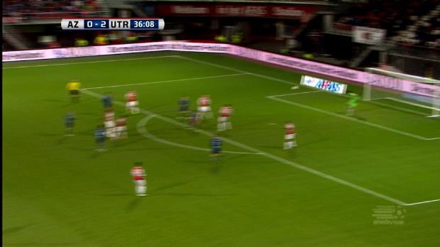 Le jeune milieu d'Utrecht, Mark Diemers a décoché une frappe supersonique lors de la victoire contre l'AZ (3-0), son premier but en 6 rencontres.