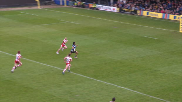 Aviva Premiership - Robbie Fruean's First Premiership Try for Bath
