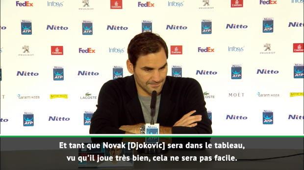 "Tennis : Masters - Federer - ""Je ne pense pas au 100e titre"""
