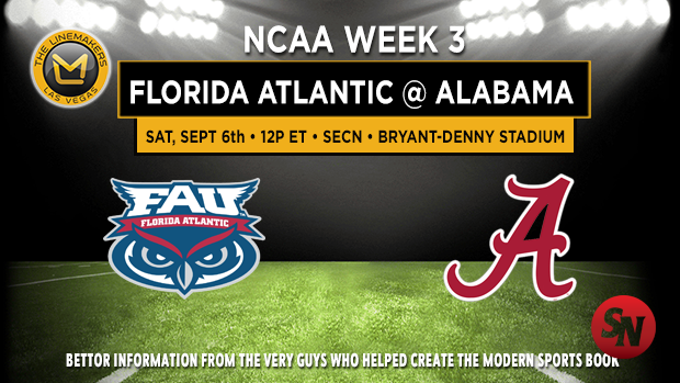 Florida Atlantic at Alabama