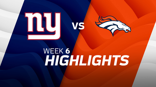 New York Giants vs. Denver Broncos highlights | Week 6