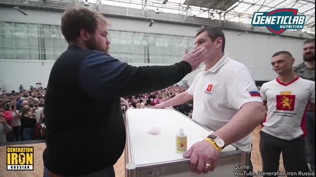 Backpfeifen statt Handshakes bei der Ohrfeigen-WM   Viral