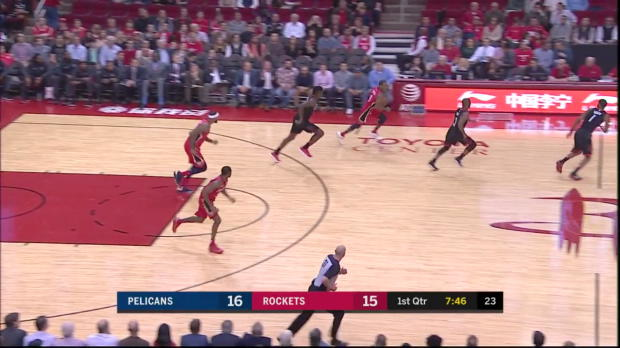 WSC: E'Twaun Moore 36 points vs the Rockets