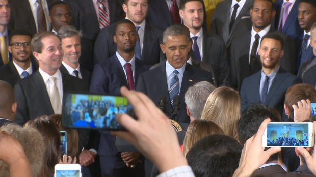 The Warriors Visit the White House