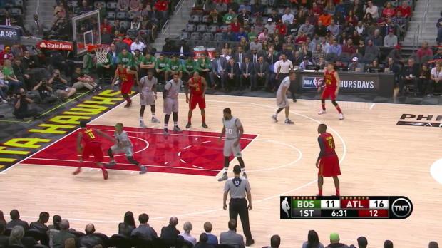 Jeff Teague with 9 Assists against the Celtics