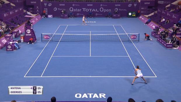Doha: Die Hüfte! Görges gibt gegen Kvitova auf