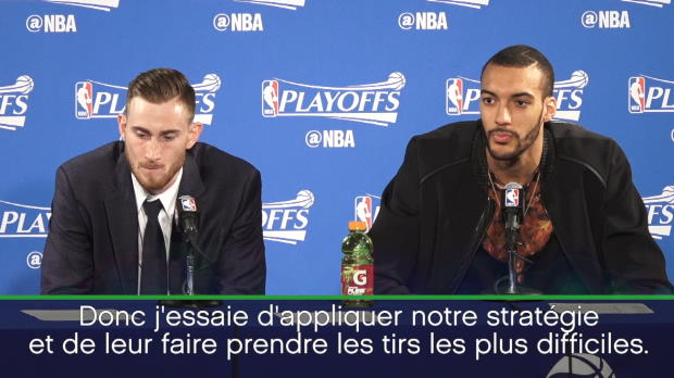 "Basket : NBA - Play-offs - Gobert - ""J'essaie d'obliger Curry à aller au drive"""