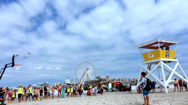 USA: Harlem-Globetrotters-Show am Strand